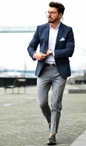 how to wear a blue blazer with grey dress pants men u0027s fashion