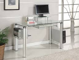 Glass Computer Desk Office Table Glass Computer Desk The Range Glass Top Computer With