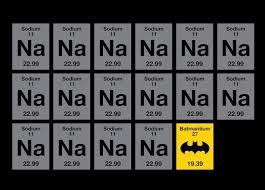 Funny Chemistry Memes - the batman element batman chemistry funny tv movie memes