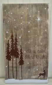all is calm all is bright holiday sign by thepaintedsignco on