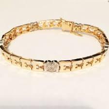 Name Bracelets Gold 14k Gold Family Name Bracelet Letters With Heart Separators