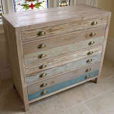 chest of drawers venetian style mirrored storage candle and blue