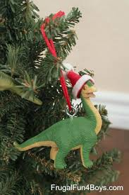 dinosaurs into ornaments