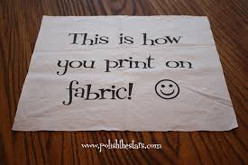 Where To Print Edible Images Print On Fabric With Your Own Home Printer Brilliant Who Knew