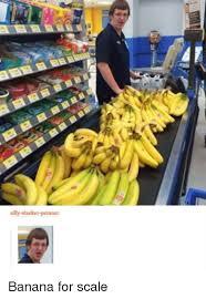 Banana For Scale Meme - silly slacker person banana for scale reddit meme on sizzle