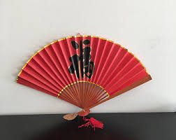 asian fan paper fan etsy