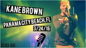 kane brown live panama city beach jessica duke youtube