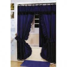 Blue Swag Valance Double Swag Shower Curtain Foter