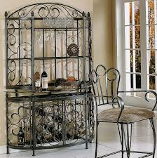 Iron Bakers Rack Decorating Bakers Rack With Wine Storage Decorative Furniture