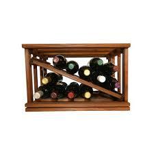 wine enthusiast companies stackable rack 18 bottle tabletop wine