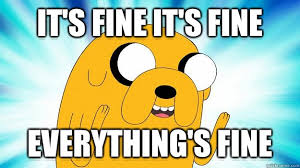 Everything Is Fine Meme - it s fine it s fine everything s fine jake the dog quickmeme