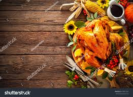 turkey pumpkins thanksgiving dinner roasted turkey pumpkins sunflowers stock photo