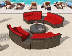 Wicker Sectional Patio Furniture by Patio Furniture Marabella Outdoor Wicker Round Sectional Sofa Set