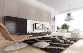 living room black and grey shaggy rug for modern living room