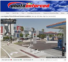 red light camera california map rolling right turn stop tickets in culver city