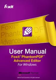 efilecabinet foxit phantompdf advanced editor manual