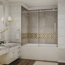 Sliding Glass Shower Doors Over Tub by Small Corner Tub Shower Combo For Bathroom Acrylic And Frameless
