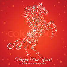 new year card new year card of made of snowflakes stock vector colourbox