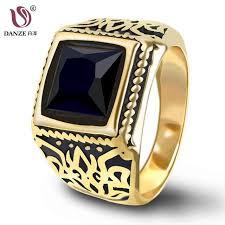 aliexpress buy mens rings black precious stones real danze mens square black carnelian semi precious signet ring