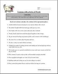 worksheet commas in a series 2 abcteach