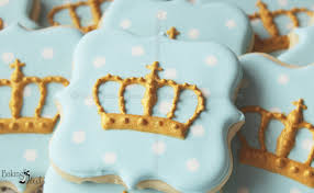 Royal Crown Home Decor Royal Baby Shower Crown Cookies Prince Cookies Gold Cookies