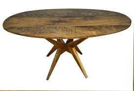 Modern Table Design Hand Made Walnut Dining Table Modern Kitchen Table By Vermont