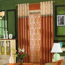 Orange And Brown Curtains Orange Curtains For Living Room Design Orange Curtains For