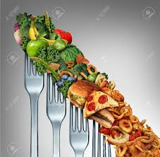 cuisine chagne diet relapse change as a healthy lifestyle slowly goes downward to