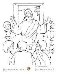 139 Best Lenten Resources Images On Pinterest Sunday School Last Supper Coloring Page