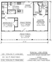 two bedroom home plans i like the open floor plan but it would need another bedroom and a