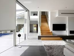 simple house design inside and outside house with modern design of glass and aluminum in melbourne