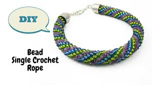 bead crochet rope bracelet images Bead single crochet tutorial bead crochet tutorial how to make jpg