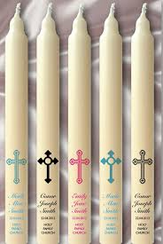 baptismal candles christening candles with great motifs and decorations hum ideas