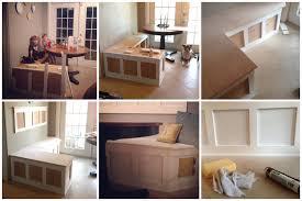 amazing building a kitchen banquette 34 diy corner banquette