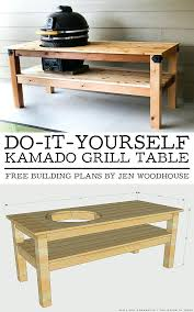 how to build a weber grill table diy grill table how to build a grilling cart diy weber grill table