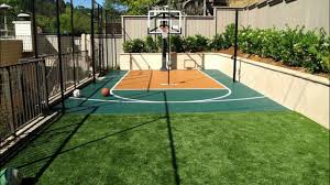 Build A Basketball Court In Backyard Backyard Sport Court Design Inspiration Gallery Vizx Design