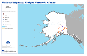 Kenai Alaska Map by National Highway Freight Network Map And Tables For Alaska Fhwa