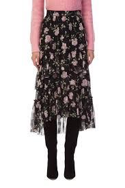 silk skirt adrianaonline ulla johnson begonia black silk skirt