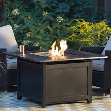 napoleon victorian square patioflame gas fire pit table hayneedle