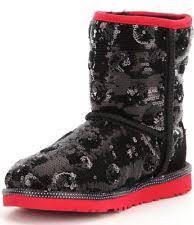 ugg womens lyla boots charcoal ugg australia lyla sequin sparkle charcoal gray s boots sz 6