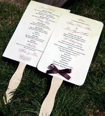 wedding program fan wording paddle fans for weddings atdisability