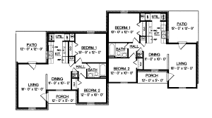 multifamily house plans harriet grove ranch duplex home plan 020d 0055 house plans and more