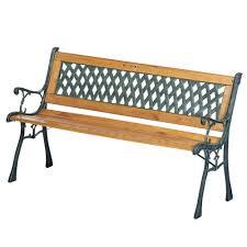 panchine prezzi panca panchina da giardino in legno e ferro dimensioni 122x56x74