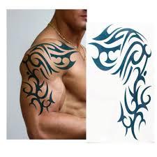large temporary tattoo 5pcs lot waterproof tattoos male half