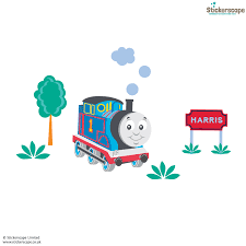 personalised thomas friends sodor sign scene wall stickers personalised thomas friends sodor sign scene wall stickers