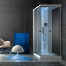 multi function shower cubicle glass chrome corner scuretto