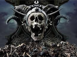 repeat halloween background christmas skulls wallpapers wallpapersafari