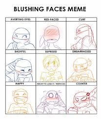 Blushing Meme - tmnt blushing meme by jojodear on deviantart