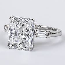emerald cut solitaire engagement rings starburst emerald cut cz baguette solitaire engagement ring