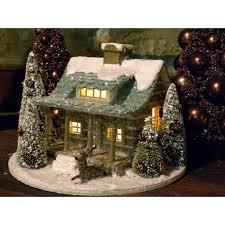 mini lights for christmas village 570 best g l i t t e r e d p u t z t r e e s images on
